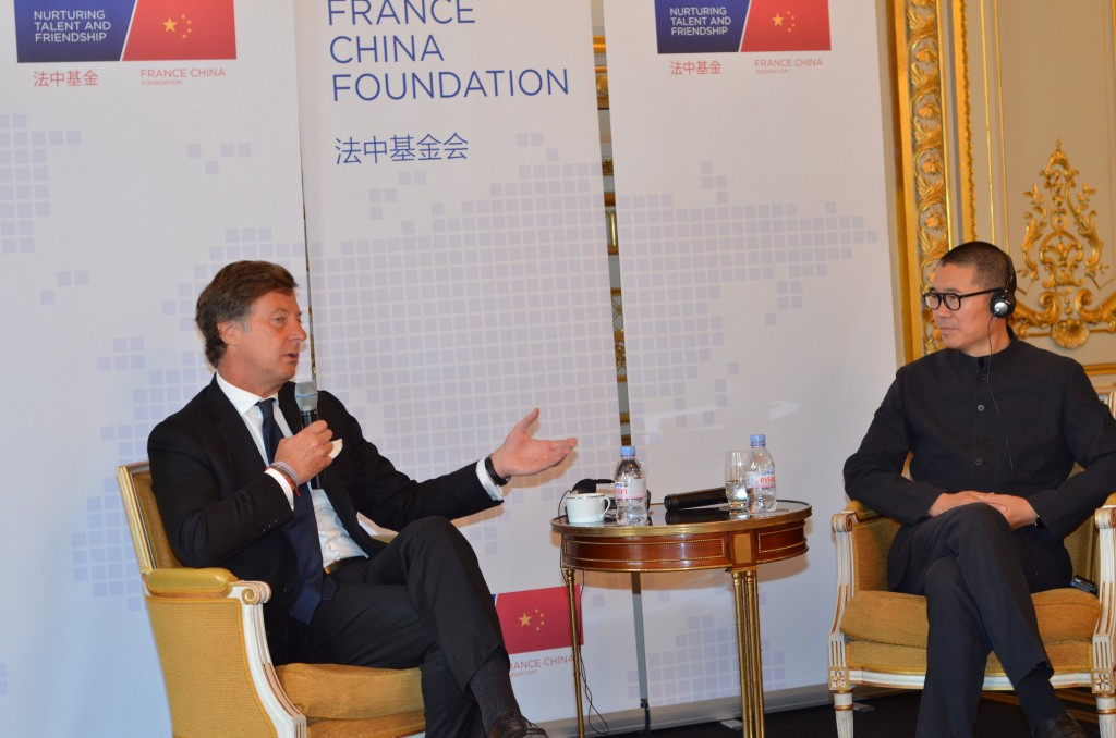 Sébastien BAZIN, CEO of AccorHotels & JI Qi, Fouder and CEO of Huazhu