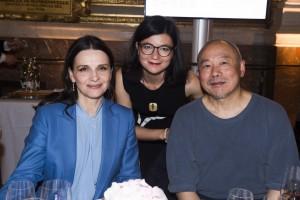 FranceChinafdn__385 Juliette Binoche, Aline Wang, Wang Keiping